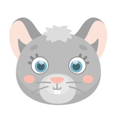 Mouse muzzle icon in cartoon style isolated on vector