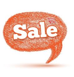 Oval sale speech bubble vector image vector image