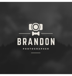 Photographer design element vector
