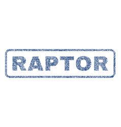 Raptor textile stamp vector