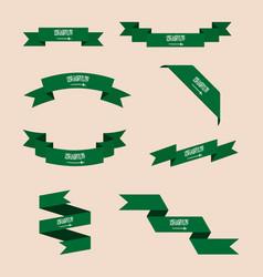 Ribbons or banners in colors of saudi arabia flag vector