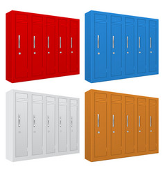 school gym lockers colored set of personal vector image