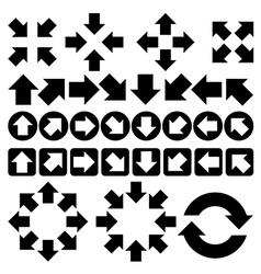 set of arrow vector image