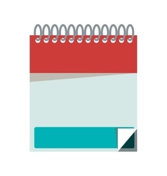 Silhouette with notebook spiral with sheets vector