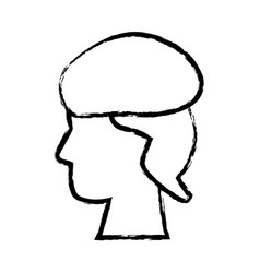 Sketch profile head human life design vector