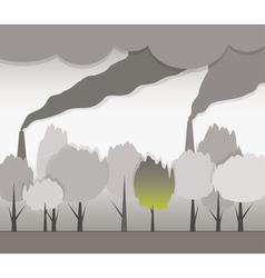 smoke and contaminated environment vector image