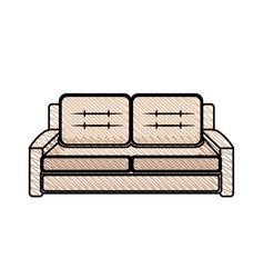 sofa furniture modern style vector image