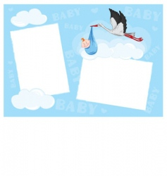 template photo frame vector image