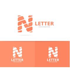 unique letter n logo design template vector image vector image