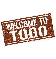 Welcome to togo stamp vector