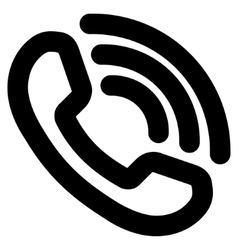Phone Ring Stroke Icon vector image