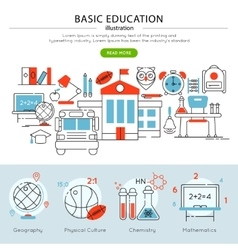 Basic education banner vector