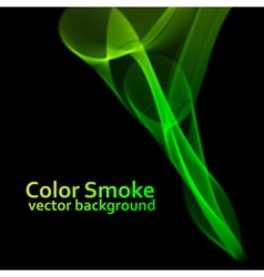 Abstract green smoke background vector