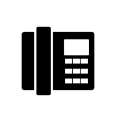 Home phone icon flat design vector