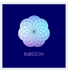 Geometric flower in fashionable colors template vector