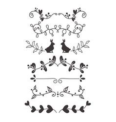 Dividers calligraphic line element vector