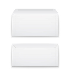 Blank envelopes on white background vector