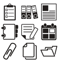 Document Office Icons vector image