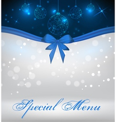 Special christmas menu vector