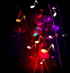 Abstract colorful musical background vector