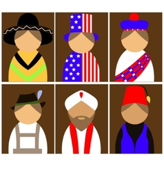 People in national dress vector