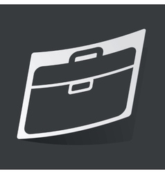Monochrome briefcase sticker vector