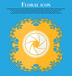 Diaphragm icon aperture sign floral flat design on vector
