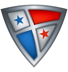 Steel shield with flag panama vector