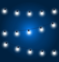 Christmas lights - festive light bulbs garland on vector