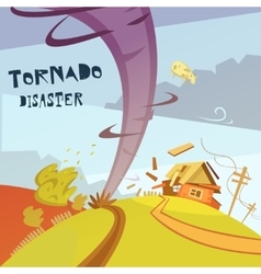Tornado disaster vector