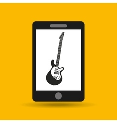 Music phone icon vector
