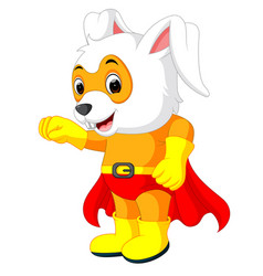 A cute cartoon superhero easter bunny vector