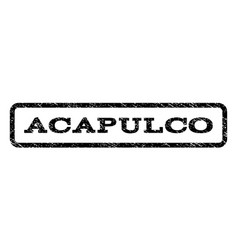 acapulco watermark stamp vector image vector image