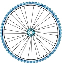 Bike wheel isolated on white background vector image vector image