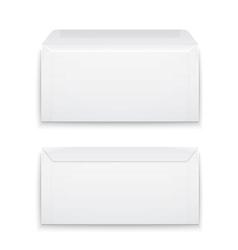 Blank envelopes on white background vector image vector image