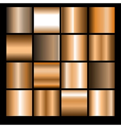 bronze gradients vector image vector image