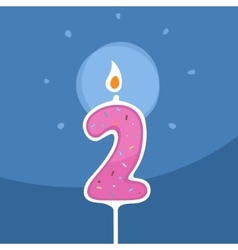 Candle Two Years vector image