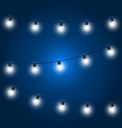 Christmas Lights - festive light bulbs garland on vector image