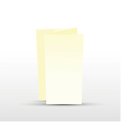 Cream trifold leaflet vector