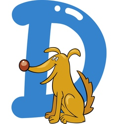 D for dog vector image