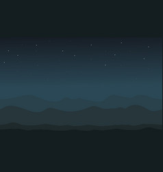 Desert at night background vector