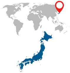 Detailed map of japan and world map navigation vector