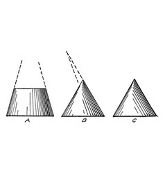 Different cone shading apex and swinging vintage vector
