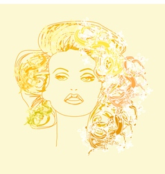 fashion drawing vector image vector image