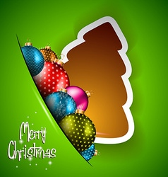 Funny 2014 Merry Christmas background vector image vector image