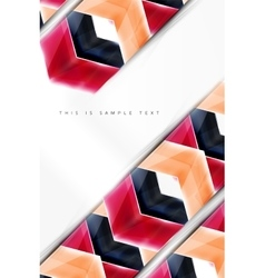 Glossy arrow wallpaper vector image