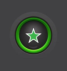Glossy circle dark star button vector