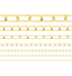 Golden chain background vector