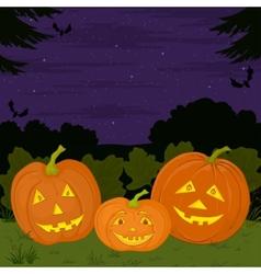 halloween pumpkins family vector image vector image