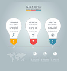 Lightbulb creative concept for infographic vector